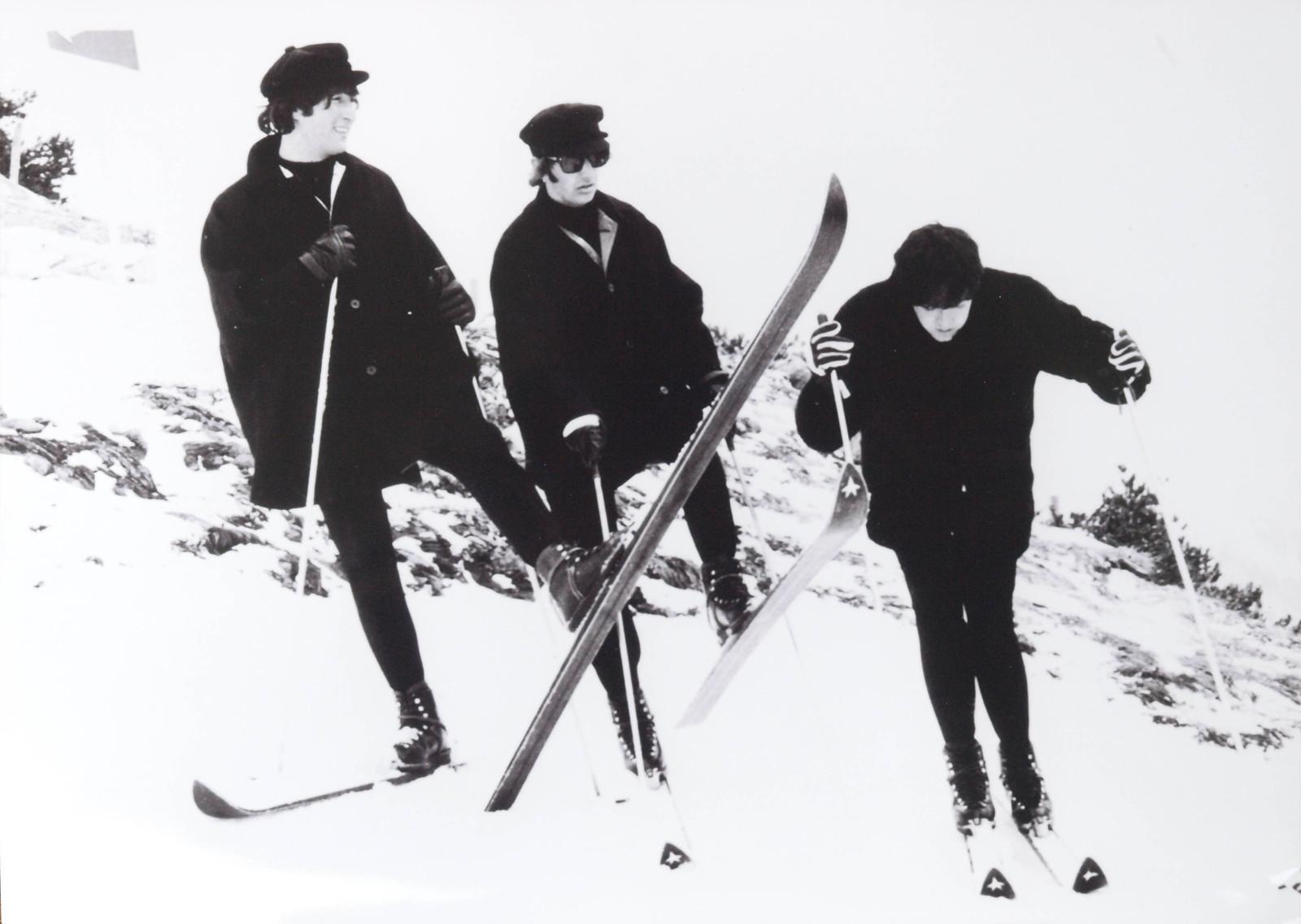 Die Beatles in Obertauern. Großartige Musiker, schlechte Skifahrer.
