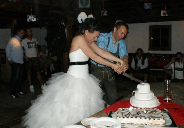 Und so wurde in Obertauern geheiratet.