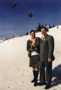 So wurde am 02.02.2002 in Obertauern geheiratet.