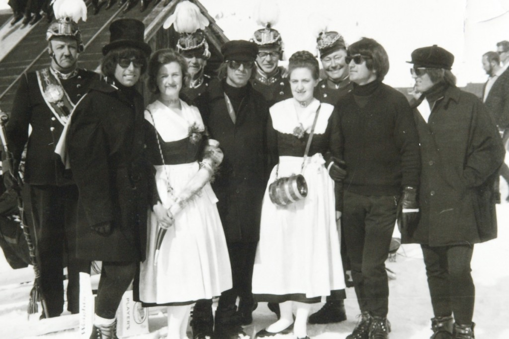 Die Beatles bei ihrem Filmdreh in Obertauern. Mein Favorit unter den Obertauern Highlights.