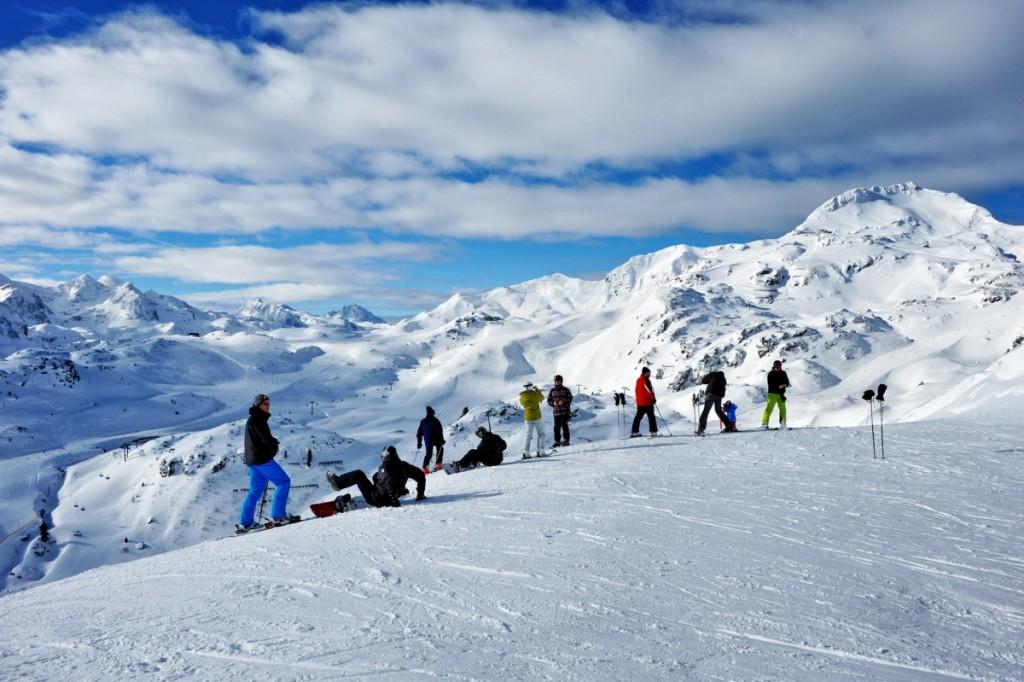 So kennen die meisten Obertauern, eine fantastische Winterlandschaft, die Skifahrer begeistert.
