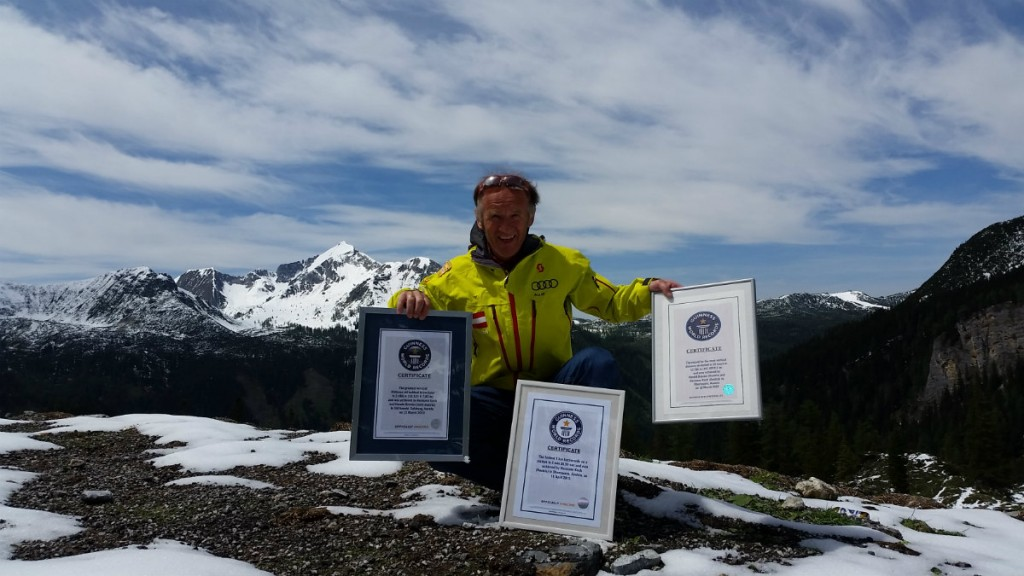 Skischule Koch: Hermann Koch, lebende Legende und Rekord-Snowbiker