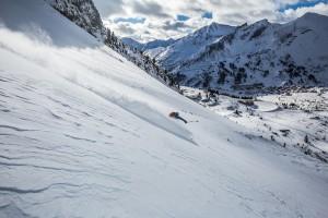In der Skiroute Hundskogel findet man immer perfektes Gelände für Powderturns.