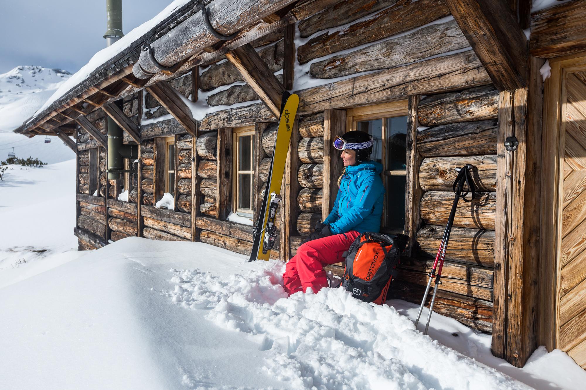 Almen im Skigebiet – die Sonne spendet Kraft.