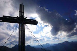 Und schwupsdiwups, war ich auch schon am Gamsspitzl mit 2.340 Meter oben :)