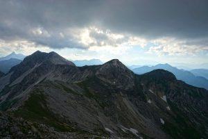 Die Hintere und die Vordere Großwandspitze riefen mir zu. Sie wollten auch noch besucht werden.