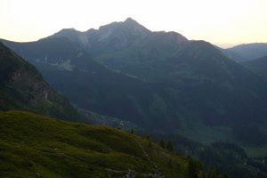 Ein Blick zur Steinfeldspitze rüber.